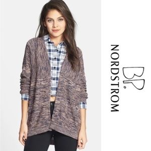 Nordstrom BP Marled Open Knit Cardigan Sweater L